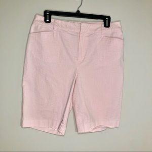 Ralph Lauren Pink Seer Sucker Bermuda Shorts